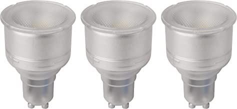 Megaman GU10 74 mm Long Neck Reflector Dimmable LED Lamp, 5 Watt, 2800K Colour Temperature, Warm White 3 Packs