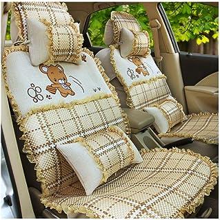 JKHOIUH Protector de cinturón de seguridad universal - Mejor protector de asientos de automóvil con encaje antideslizante 3D - Perfecto for la playa, correr y las mascotas Fundas de asiento de automóv