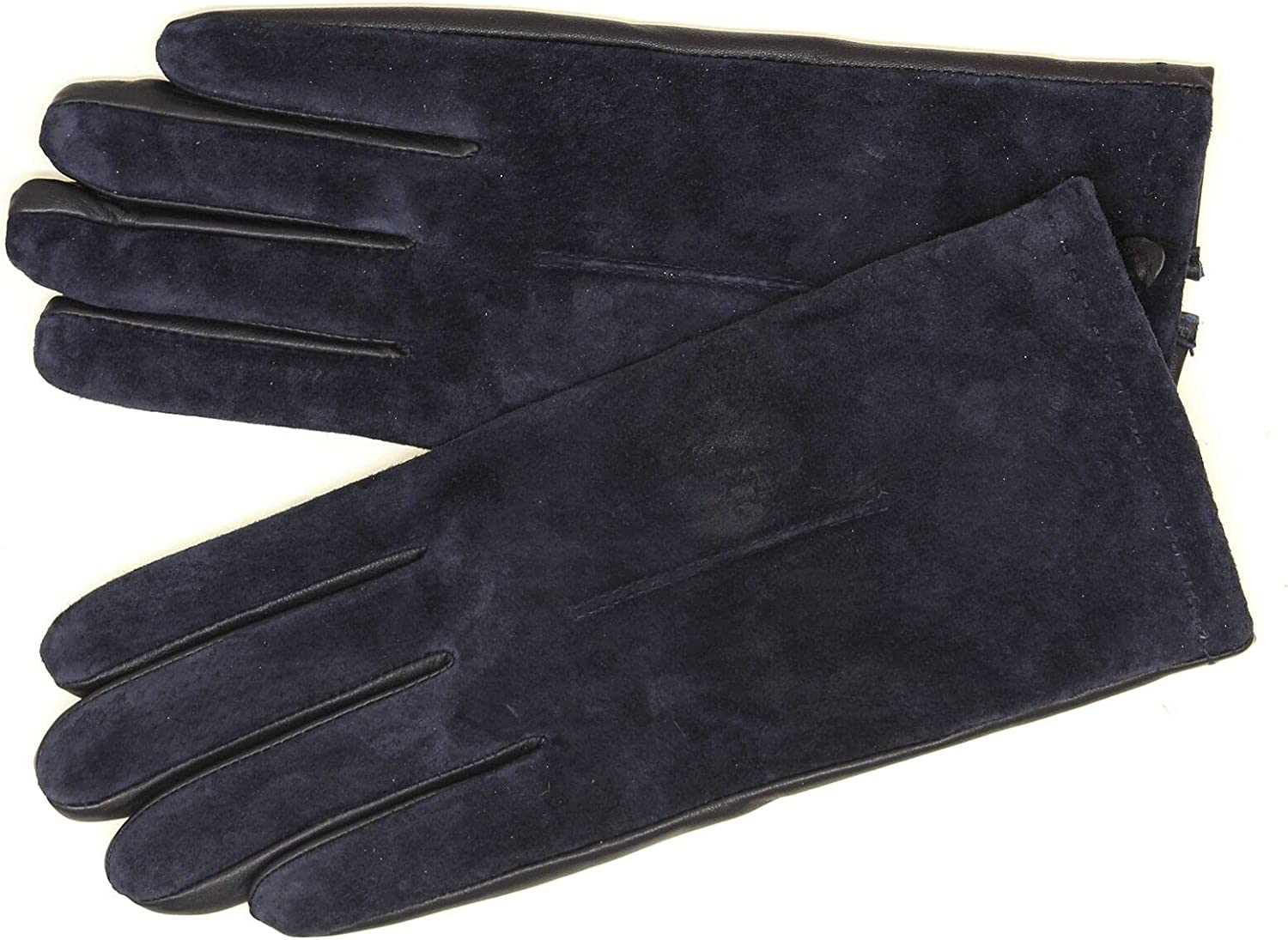 A New Day Women's Suede Back Tech Touch Genuine Leather Gloves