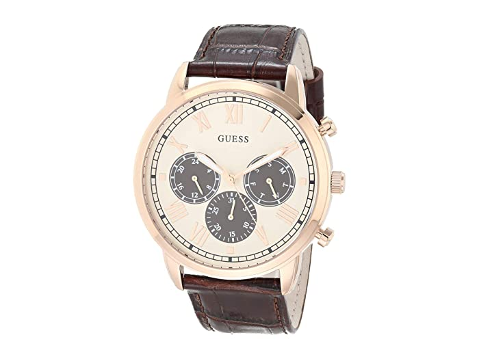 GUESS  GW0067G3 (Rose Gold-Tone/Brown) Watches
