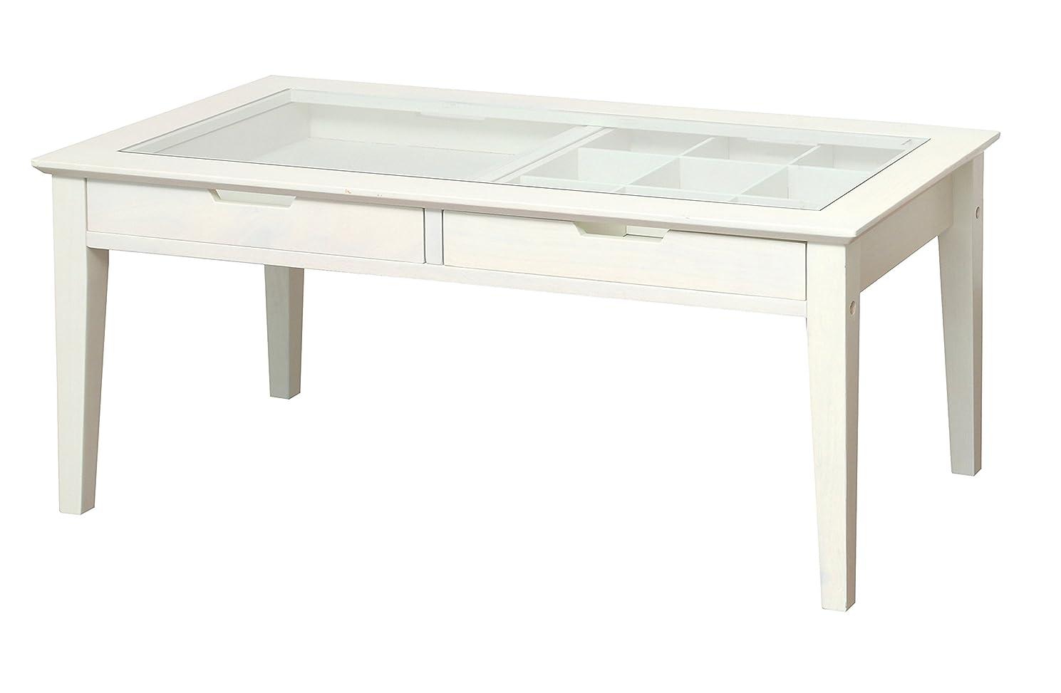 減らす補足遮る市場 アイネ レノ コレクションテーブル 幅90×奥45cm×高さ40cm ホワイト INT-2576WH
