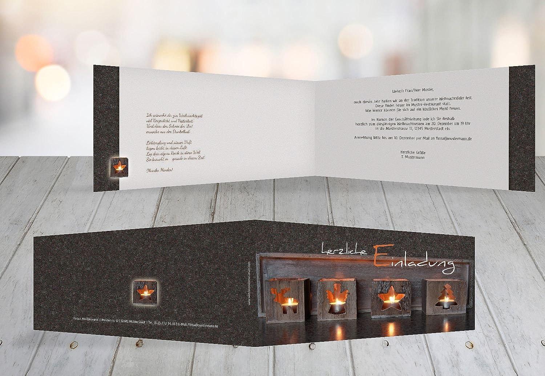 Kartenparadies Einladungskarte zu Weihnachten Einladung Adventszeit, Adventszeit, Adventszeit, hochwertige Weihnachtseinladung zum Selbstgestalten (Format  215x105 mm) Farbe  Braun B01N7RO9N8 | Räumungsverkauf  bc5d78
