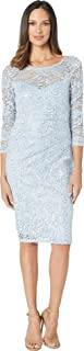 Best light blue long sleeve lace dress Reviews