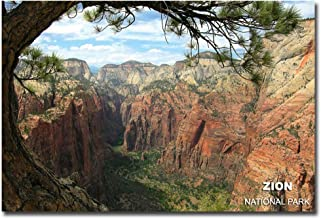 "View from Angel's Landing in Zion National Park Travel Refrigerator Magnet Size 2.5"" x 3.5"""