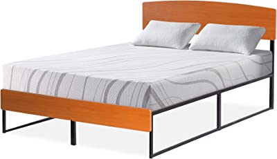 Amazon Com Queen Size Solid Wood Platform Bed Frame Clean Unfinished Chemical Free Pine Made In Usa Kitchen Amp Dining