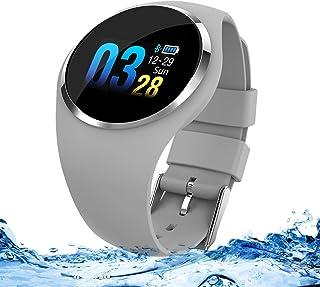 Zeerkeer Smartwatch, Reloj Inteligente Pulsera de Actividad con Pulsómetro, Blood Pressure,Impermeable IP67 Facebook/Twitter/Whatsapp inseguitori de Fitness