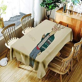 Resistente Al Agua Retrato De Animales Macho Ciervo De Poliéster Mantel Limpiar Manteles Rectángulos Cubiertas De Mesa para Bodas, Cocina, Comedor, 150X200 Cm