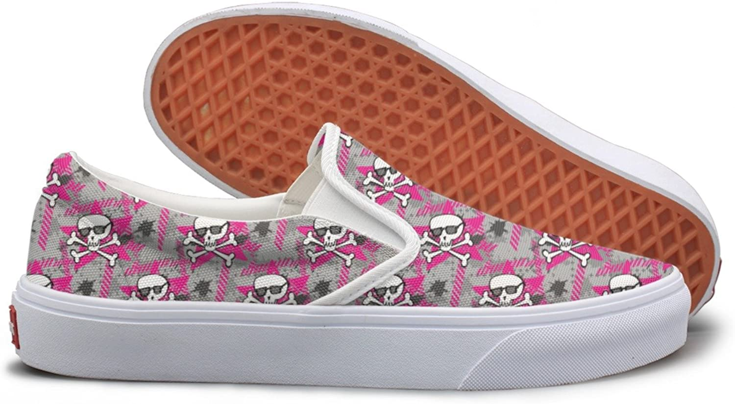 Casual Hipsters Skulls Women Girls Canvas shoes