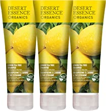 Desert Essence Lemon Tea Tree Shampoo - 8 Fl Oz - Pack Of 3 - Removes Excess Oil - Revitalizes Scalp - Strengthens & Protects Hair - Maca Root Extract - Soft, Smooth & More Manageable