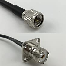 12 inch RGU178 MINI UHF MALE to UHF Female Flange Pigtail Jumper RF coaxial cable 50ohm High Quality Quick USA Shipping