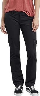 Dickies womens Stretch Twill Straight Leg Cargo Pant Work Utility Pants
