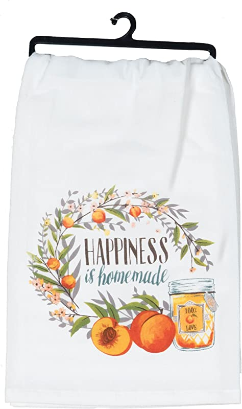 Kay Dee Designs R6596 Happiness Is Homemade Peaches Flour Sack Towel