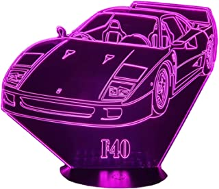FER F40, Lampada illusione 3D con LED - 7 colori.