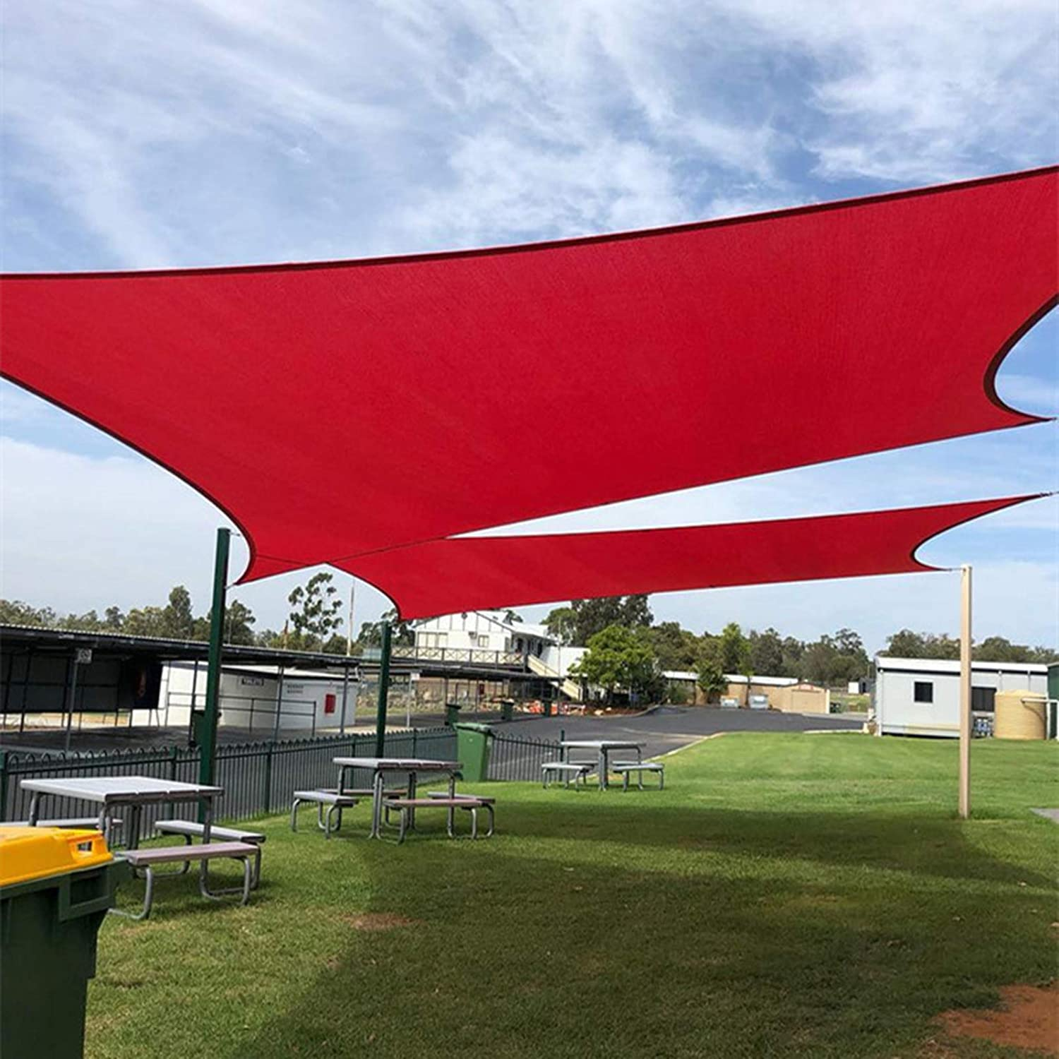 BELLE DURA 10'X13' Rectangle Rust Red Attention brand Use Max 60% OFF Sail Canopy Sun Shade