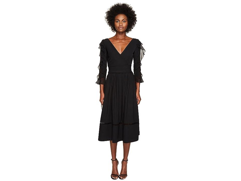 Preen by Thornton Bregazzi Alva Ted Stretch Satin Dress (Black) Women