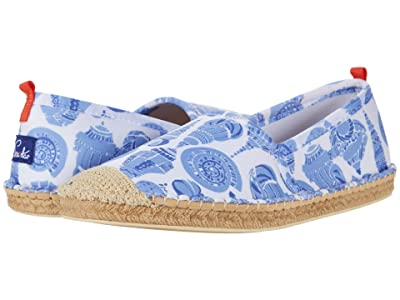 Sea Star Beachwear Beachcomber Espadrille Water Shoe (Caribbean Blue Shell Print) Women
