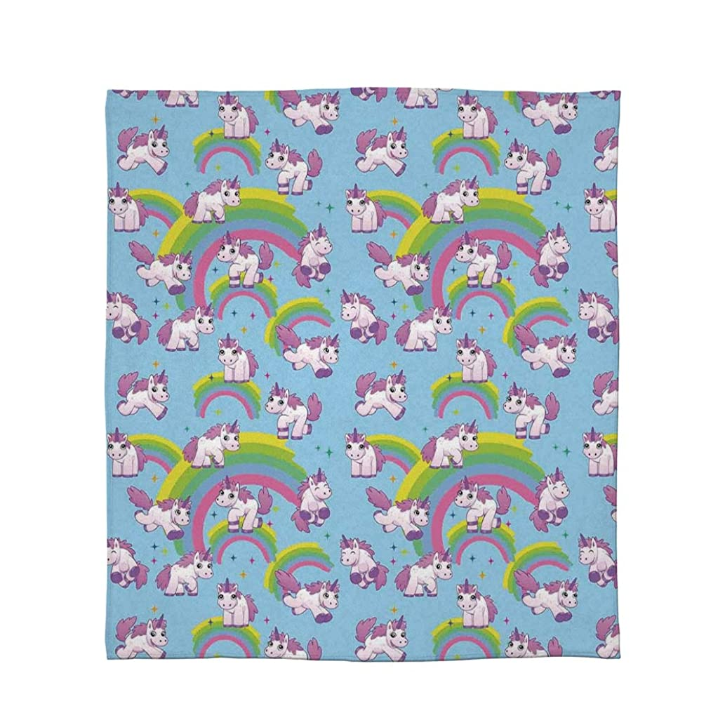 C COABALLA Flannel Blanket,Unicorn Home and Kids Decor,for Living Room Bedroom Hotel,Size Throw/Twin/Queen/King,Repeating Pattern Mystical Ancient Beast Purity Grace