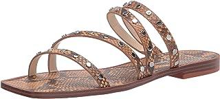 Dolce Vita Women's Izabel Studded Slide Sandal, MANGO SNAKE PRINT STELLA, 7.5