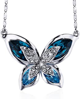 SIVERY 'Butterfly' Jewelry Necklace with Swarovski Crystals