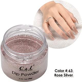 C & I Dip Powder Color No.063 Rose Silver, Pearl Shine Color System, 28g