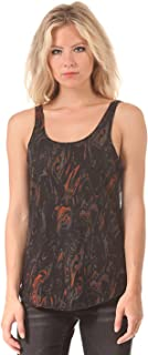 Womens Marbled Scoop Tank Top