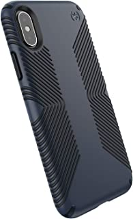 Speck Products Compatible Phone Case for Apple iPhone Xs/iPhone X/Presidio Grip Case, Eclipse Blue/Carbon Black
