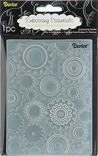 Darice 1217-54 Embossing Folders, 4.25 by 5.7-Inch, Steam Punk Design