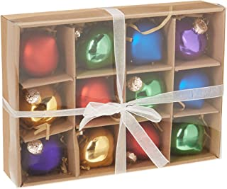 kat + annie 12 Count Primary Onions Ornament, Purple/Green/Red/Yellow/Blue