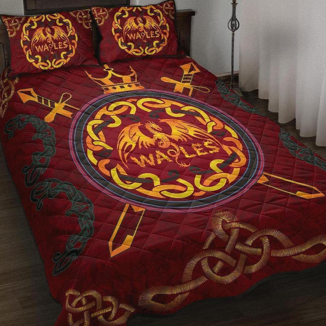 Super special price Personalized Celticbet Dragon Wales Red Tampa Mall Color Q Quilt King