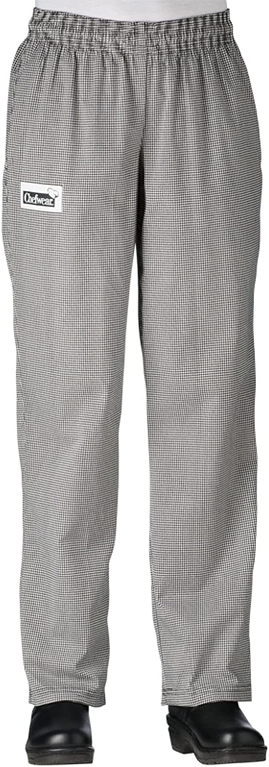 Chefwear Womens Cotton Low Rise Chef Pants