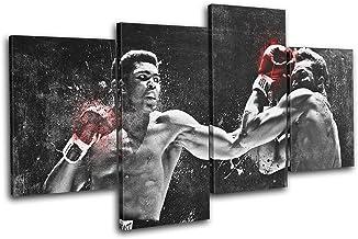 Bold Bloc Design - Muhammad Ali Boxing Grunge Sports 200x113cm Multi Canvas Art Print Box Framed Picture Wall Hanging - Ha...