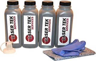 Laser Tek Services Compatible Toner Refill Kit Replacement for High Yield HP 15X C7115X C7115A 15A (Black, 4-Pack)