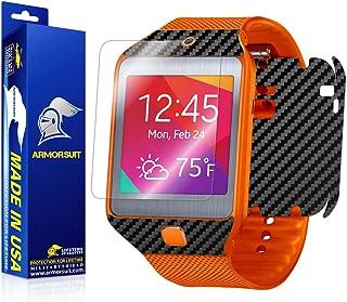 ArmorSuit Samsung Galaxy Gear 2 Neo Screen Protector MilitaryShield + Black Carbon Fiber Skin Wrap Film Back Protector For Galaxy Gear 2 Neo