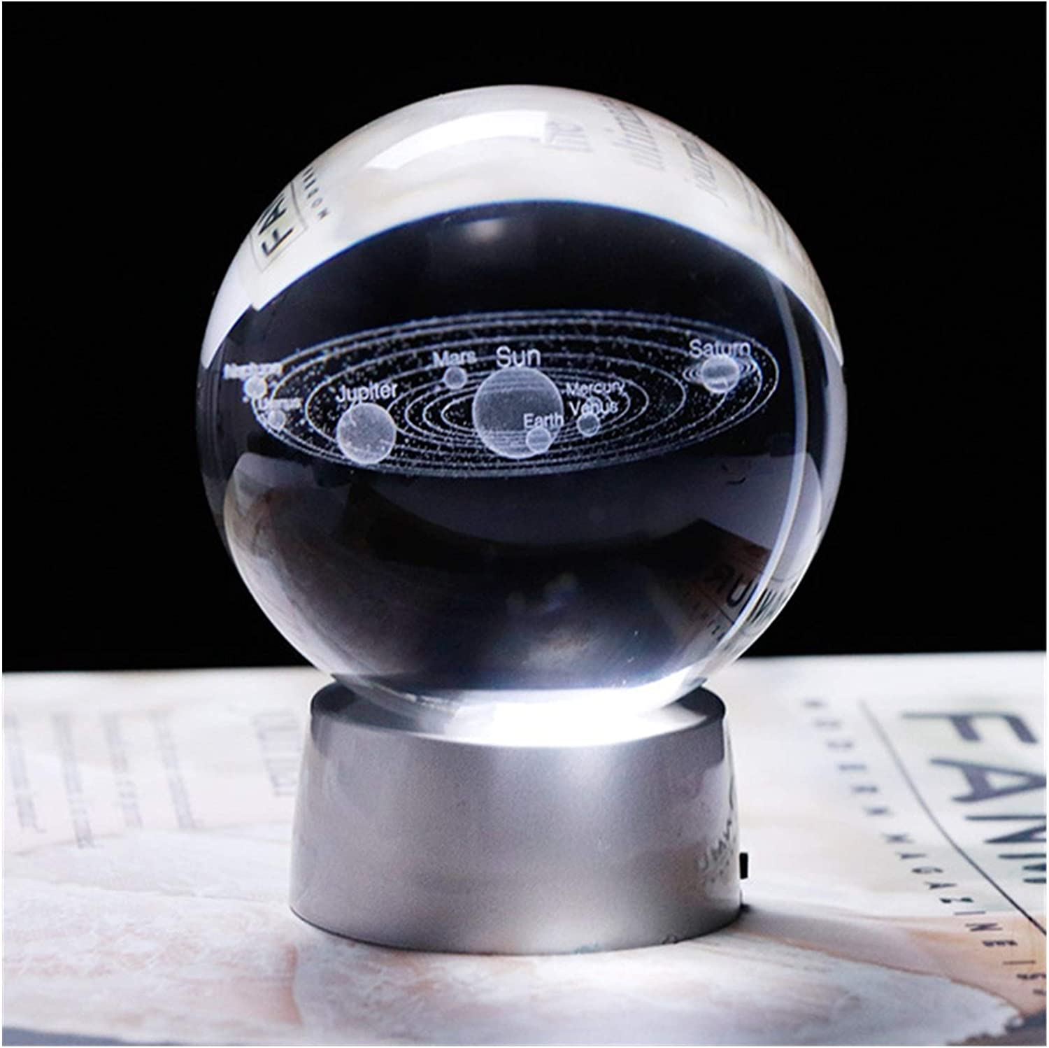 Moonlight Star Crystal Ball Base Outlet SALE Sys Engraved New arrival Solar