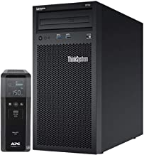 Lenovo ThinkSystem ST50 Tower Server Bundle Including APC BR1500MS 1500VA UPS, Intel Xeon 3.4GHz CPU, 32GB DDR4 2666MHz RA...