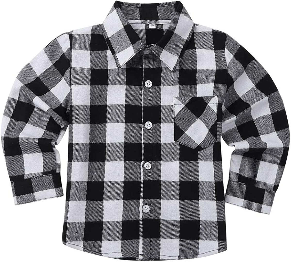 JanJean Little Ultra-Cheap Deals Girls Boys Long Sleeve New life S Button Plaid Cotton Down