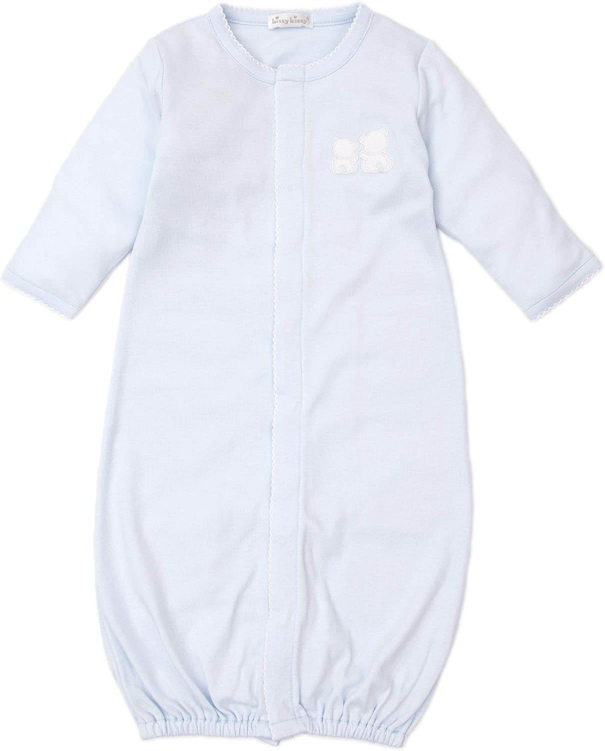 Kissy Kissy Baby-Boys Infant Pique Bare Backs Blue Convertible Gown