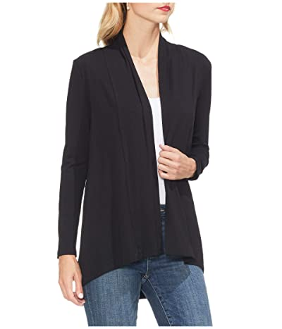 Vince Camuto Open Front Cardigan (Rich Black) Women