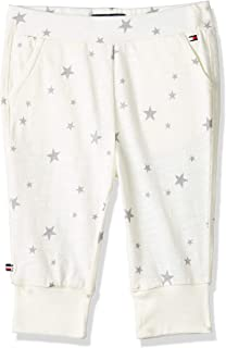 Tommy Hilfiger Stars Printed Baby Pants for Newborn Baby - 3 Months, Marshmallow White