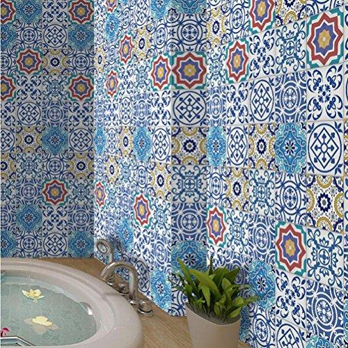 MINRAN DECOR J Art de tuiles Mural - Adhésif carrelage   Sticker Autocollant Carrelage - Mosaïque carrelage Mural Salle de Bain et Cuisine   - 20cm*5m 002