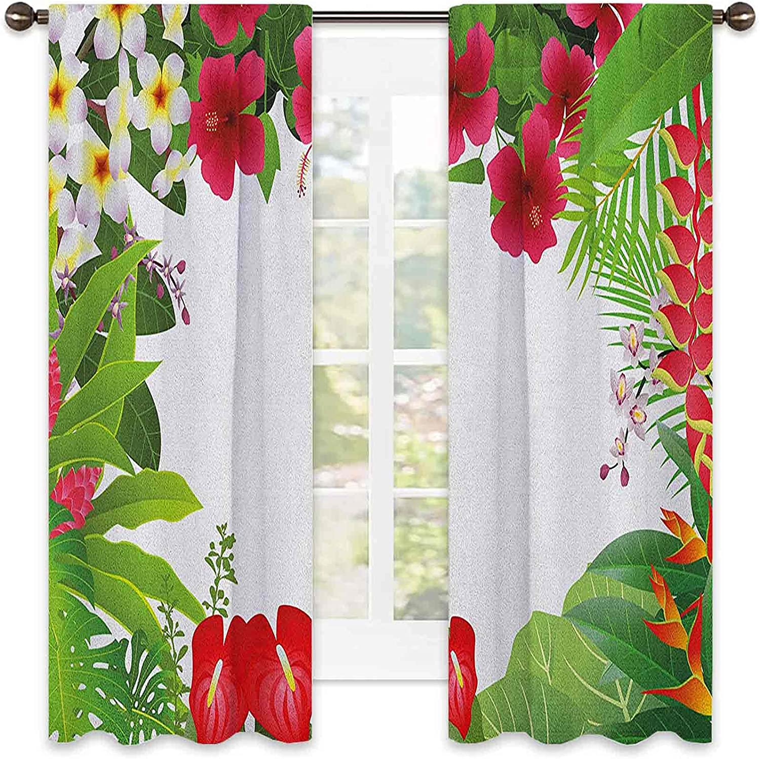 Leaf Wear Resistant Color Curtain Ranking Seattle Mall TOP9 Hibiscus Crepe Ginge Plumeria