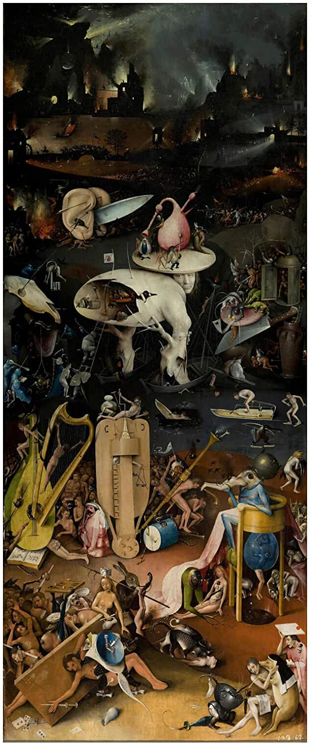 Spiffing Prints Hieronymus Bosch - The Garden of Earthly Delights Hell - Medium - Archival Matte - Unframed