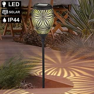 8er Set LED Solar Lampen Kugel Erdspieß Strahler Veranda Außen Laternen Leuchten