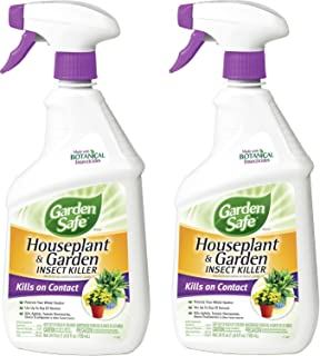 Garden Safe 80422 Houseplant and Garden Insect Killer 24-Ounce Spray, 2 Pack