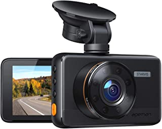 "[Updated Version] Dash Cam APEMAN Dashboard FHD 1080P Car Camera DVR Recorder with 3.0"" LED Screen, Night Vision, G-Sensor..."