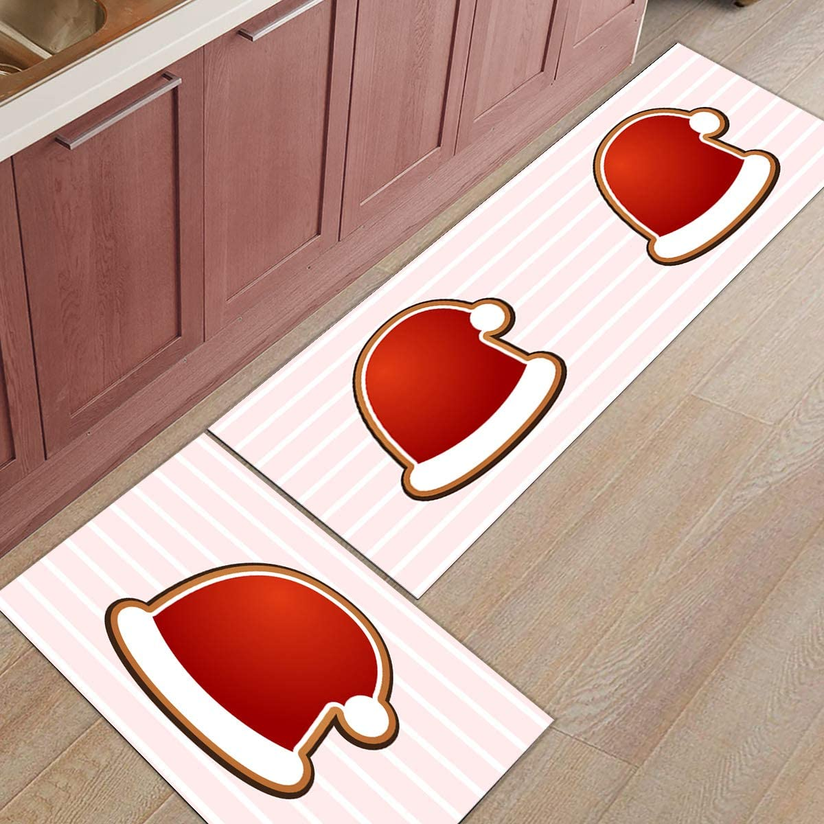 Christmas Cheap mail order specialty store 2 Manufacturer direct delivery Pieces Mats No Slip K Rug Washable for Throw Runner