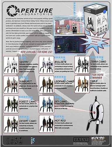 Wizkids  Neca 70882 Portal 2Sentry Tower panTalla 12Ct