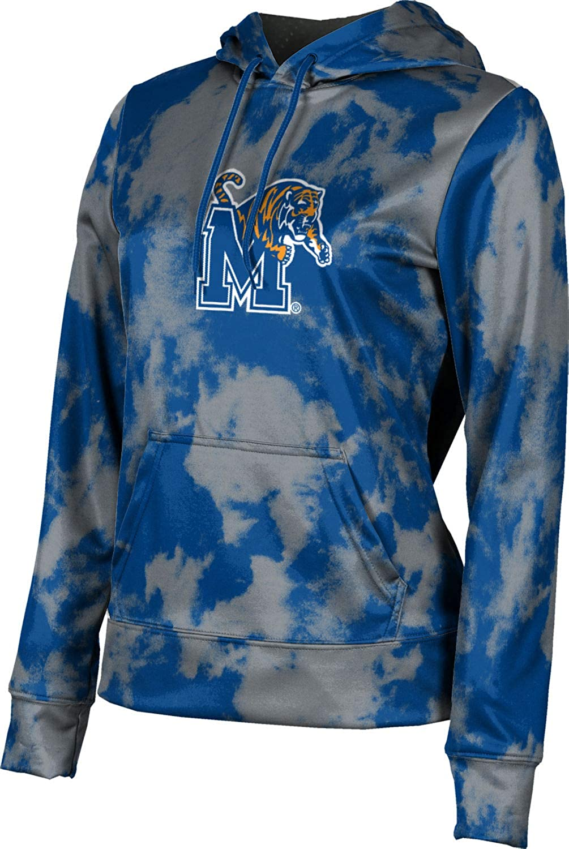 ProSphere University of Memphis Girls' Pullover Hoodie, School Spirit Sweatshirt (Grunge)
