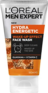L'Oréal Paris Men Expert Hydra Energetic Wake Up Face Wash For Men, with Vitamin C and Guarana, 100ml