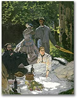 Dejeuner sur l'Herbe, Chailly by Claude Monet, 18x24-Inch Canvas Wall Art